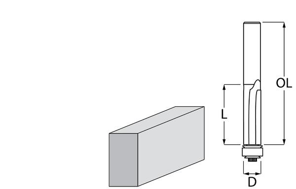 Фрезер за дърво профилен за подравняване, с лагер ф 9.5х26 мм, 67 мм, ф 8 мм Makita