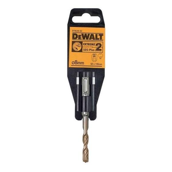 Свредло за бетон SDS-plus с 2 пластини и KVS спирала ф 8 мм, 50/110 мм DeWALT DT9528