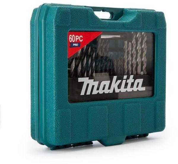 Комплект монтажен, накрайници и свредла 60 части, Makita P-90358