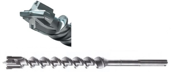 Свредло за армиран бетон SDS-max с 4 пластини и KVS спирала ф 25 мм, 400/520 мм Makita Zentro Max