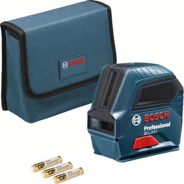 Линеен лазерен нивелир с 2 лъча 10 м, 0.3 мм/м Bosch GLL 2-10