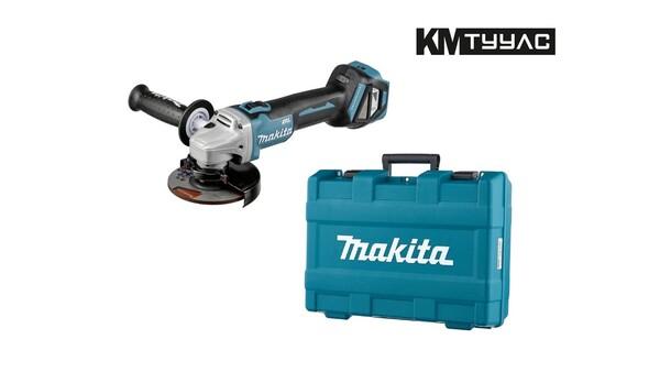 Акумулаторен ъглошлайф безчетков Makita DGA511Z 18V, регулиране на обороти, в куфар