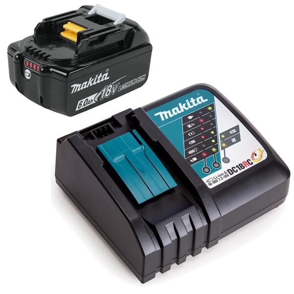 Комплект батерия BL1860B 18V, 6.0Ah и зарядно DC18RC