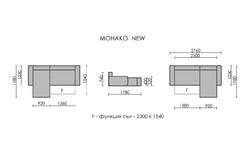 Ъглов диван Монако