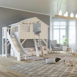 Легло къща с пързалка №7